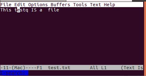 使用 emacs 在文件中搜索