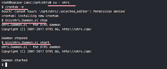 Enable OTRS Fetching Email