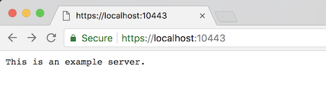 mkcert in action, a green lock for localhost