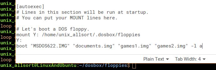boot multiple floppies dosbox