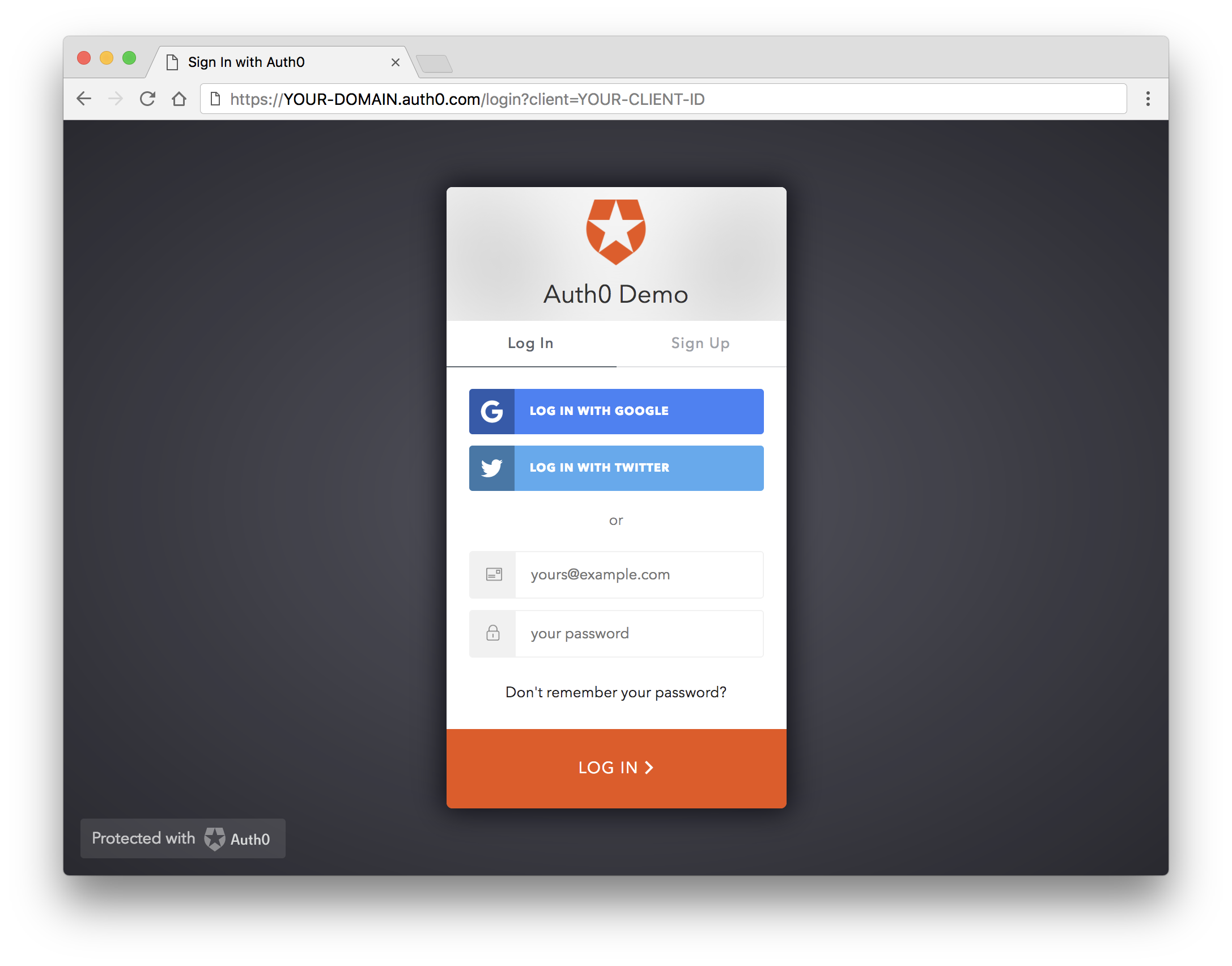 Auth0 Login Page