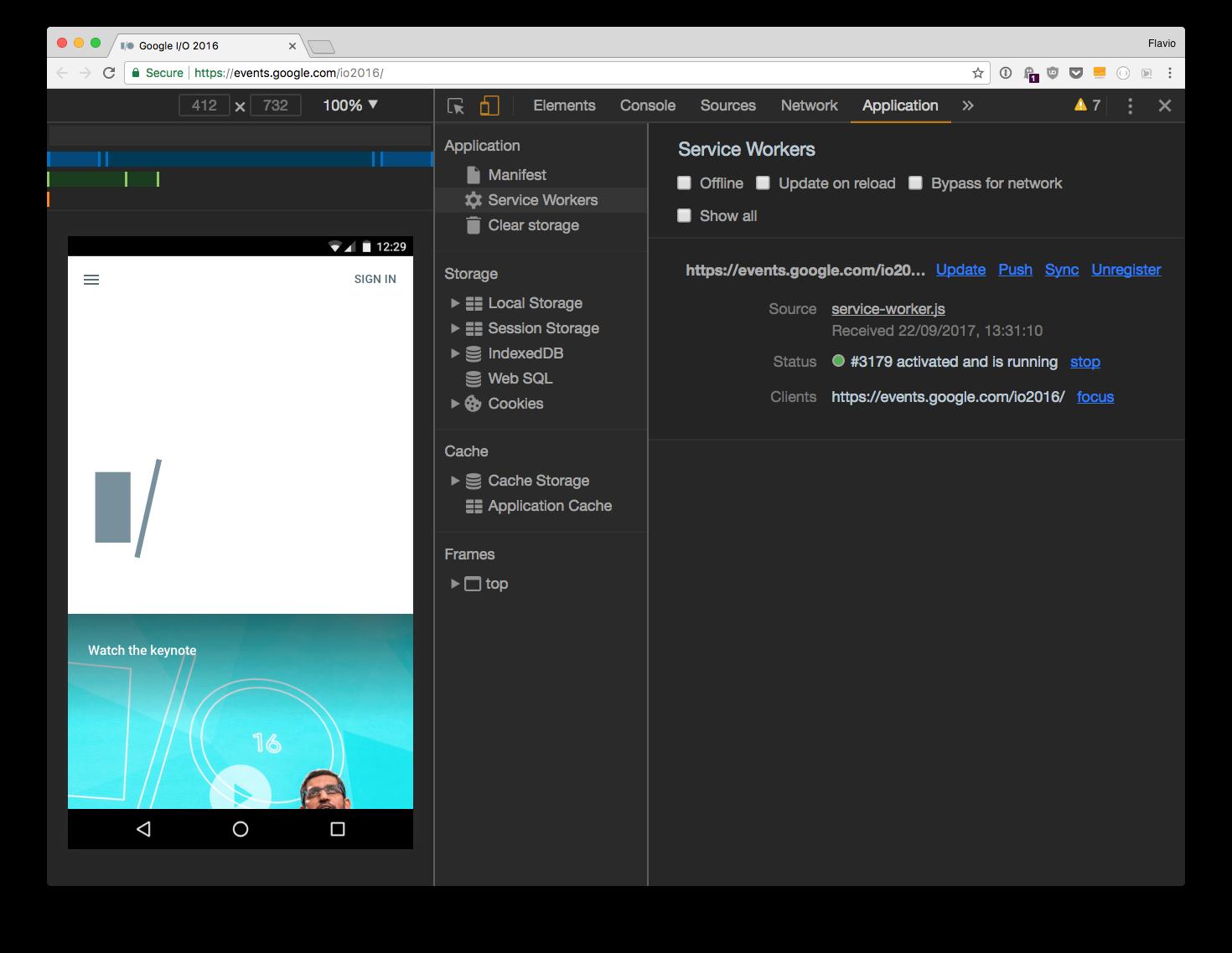 How to debug Progressive Web Apps using Browser Developer