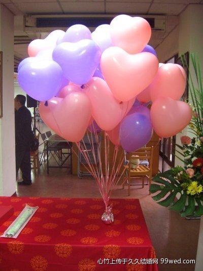 北京氦气球装饰_婚房心形气球布置图片图片_婚房心形气球布置图片图片下载