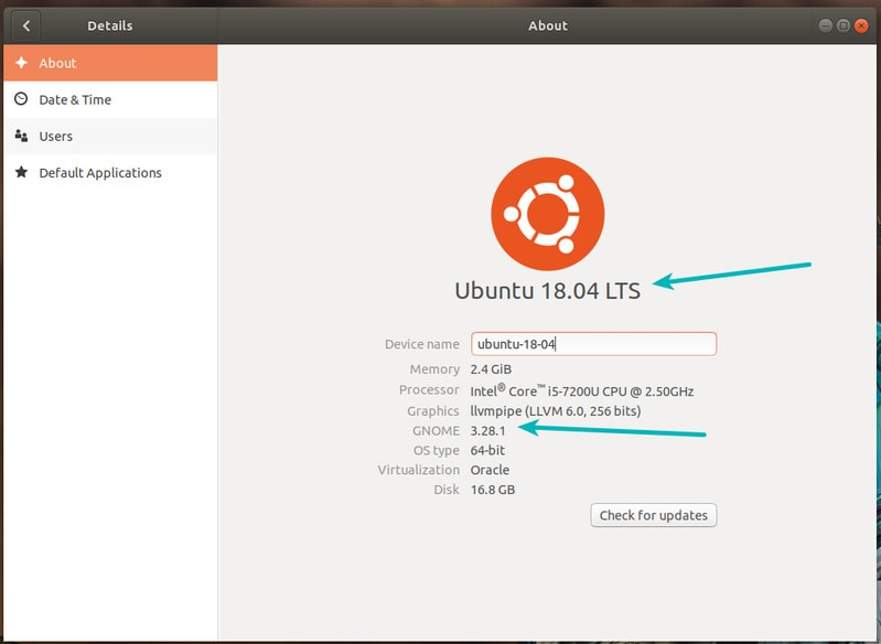 Finding Ubuntu version graphically