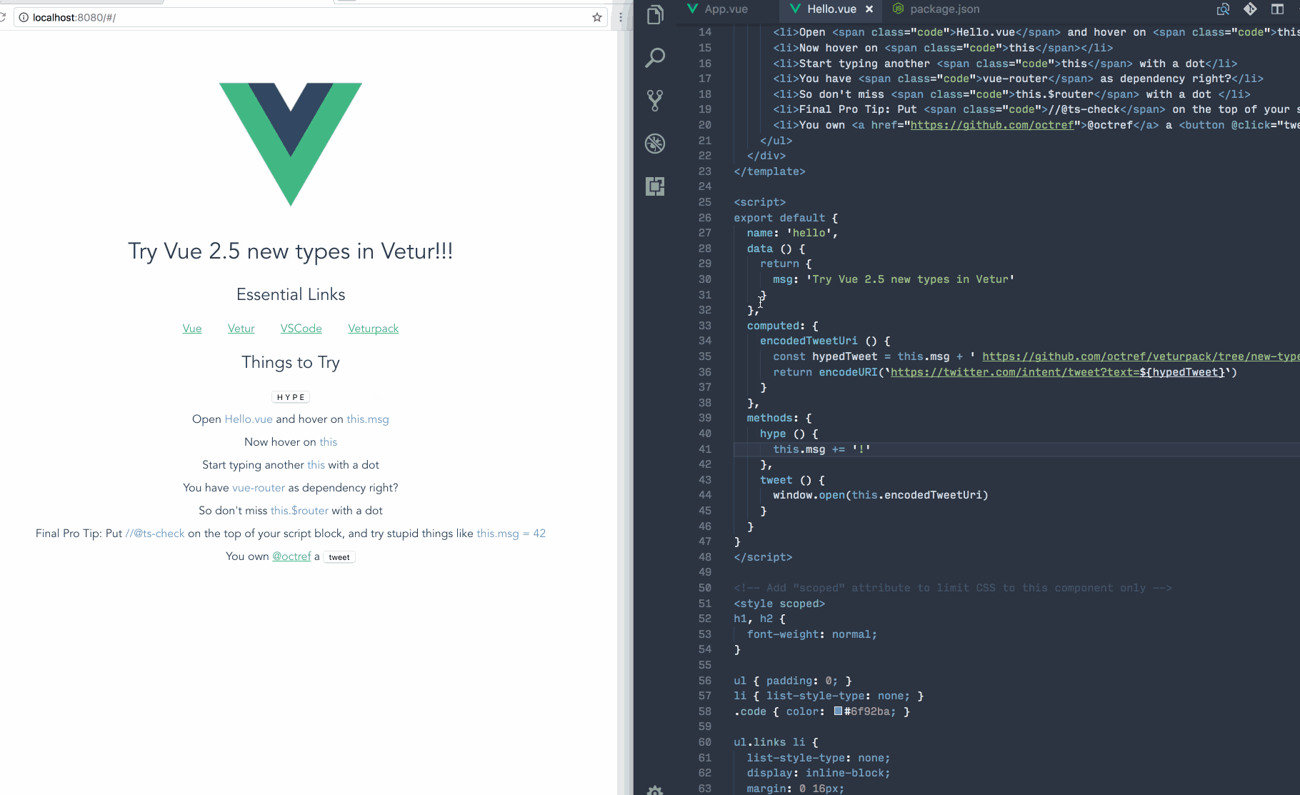 Upcoming TypeScript Changes in Vue 2 5 – The Vue Point