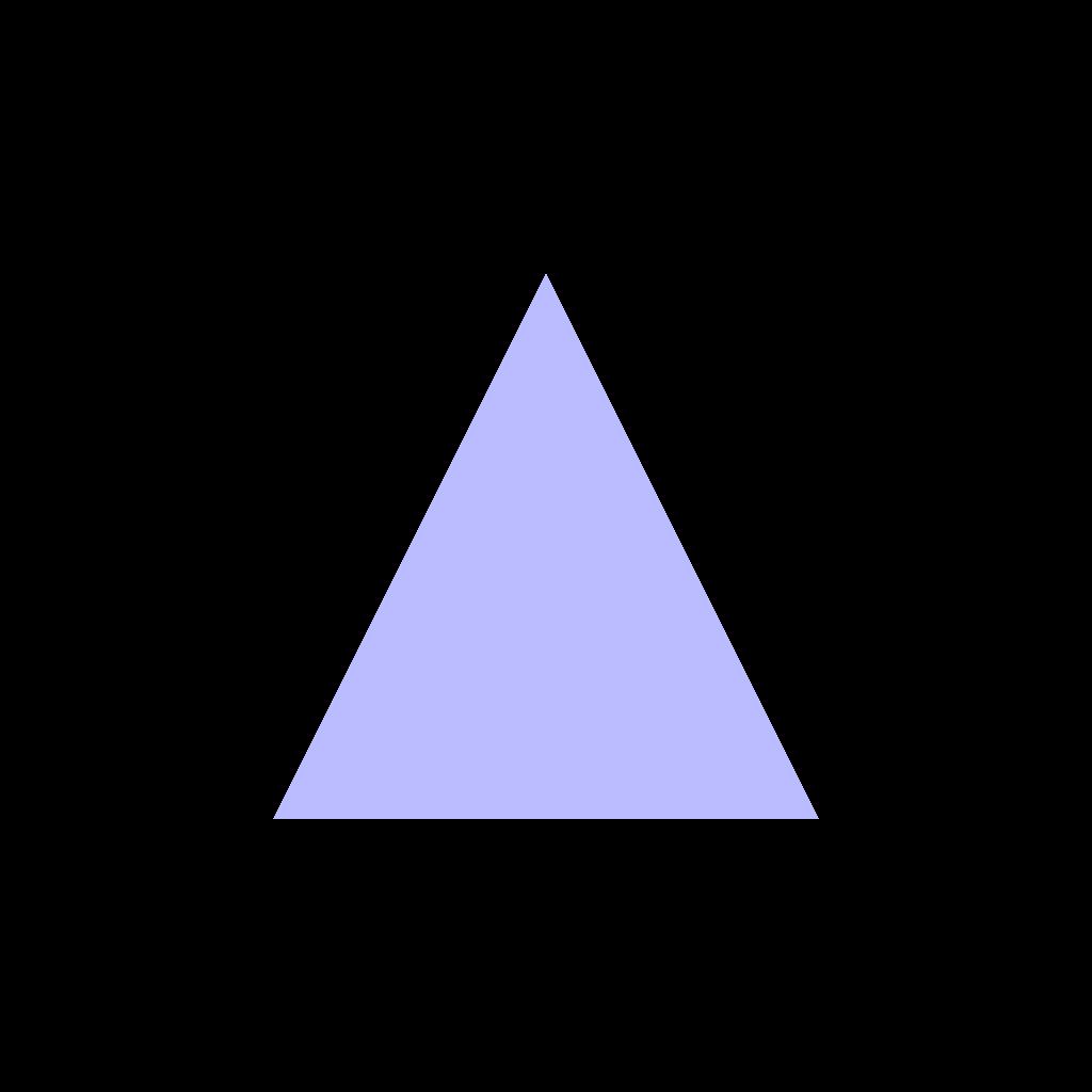 A nice, lilac triangle.