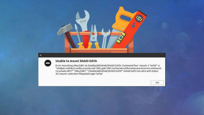 Fix exFAT mount error on Ubuntu Linux