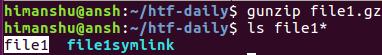 如何使用 gunzip 解压压缩文件?