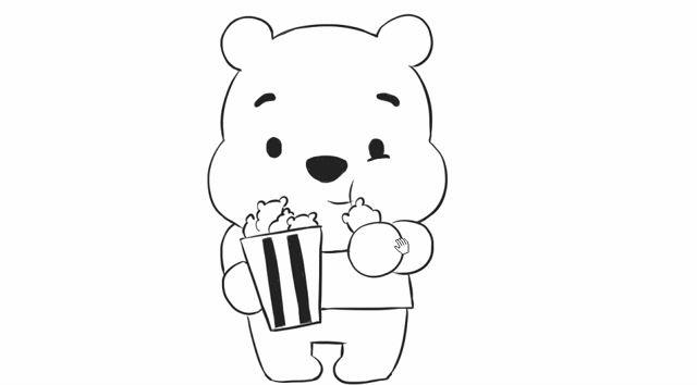 [小林简笔画]如何绘画儿童早教亲子简笔画中的小熊吃
