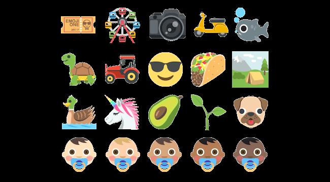 Emoji One set sampler