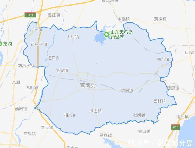 山东省的一个县,人口超80万