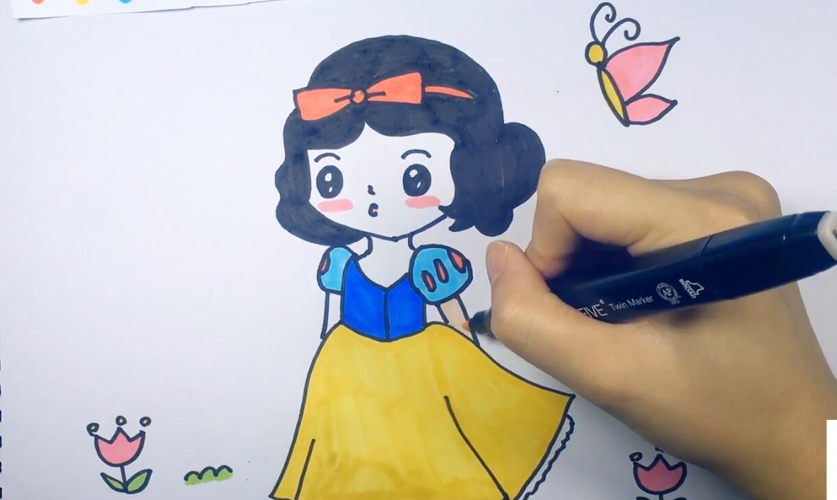 【可乐姐姐学画画】白雪公主图片
